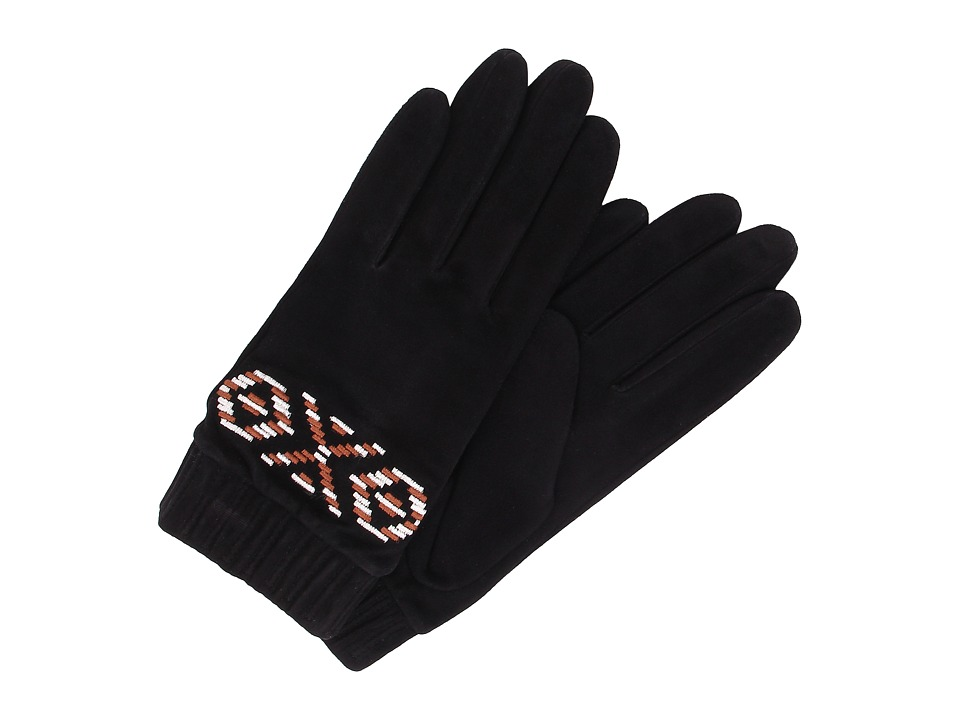 UGG - Chaunce Rustic Embroidered Glove (Black Multi) Extreme Cold Weather Gloves