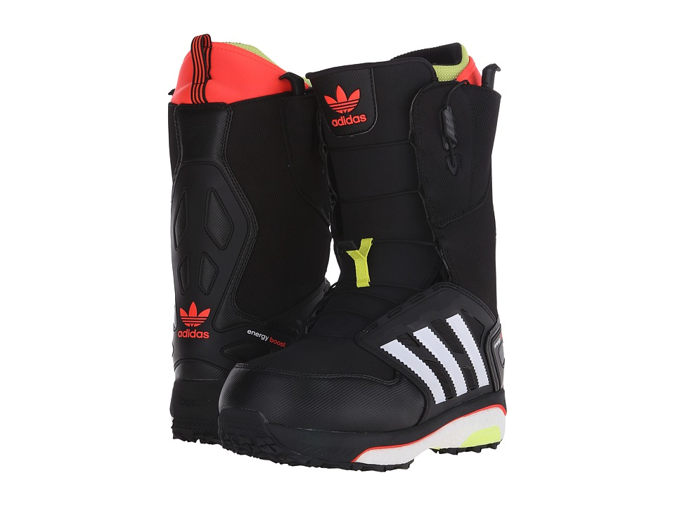 adidas Skateboarding - Energy Boost (Black/Solar Red/Solar Yellow) Men's Snow Shoes