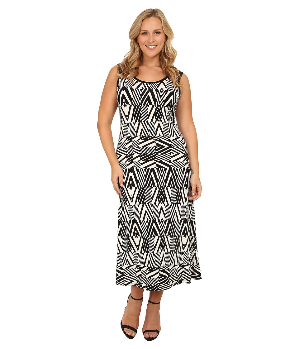 Calvin Klein Plus - Plus Size Tank Maxi Dress (Black Peak) Women's Dress