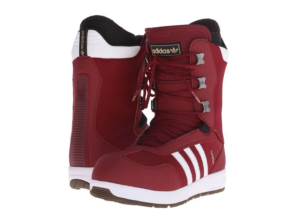 adidas Skateboarding - The Samba (Collegiate Burgundy/White/Black) Men's Snow Shoes