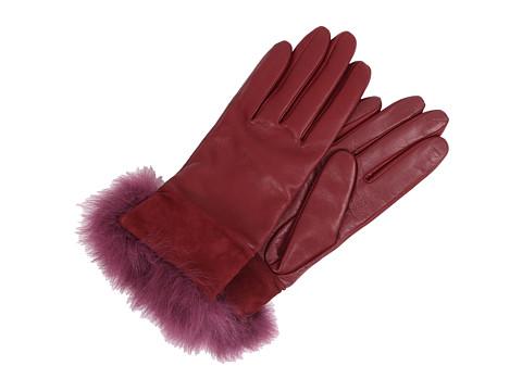 UGG - Quinn Glove with Toscana Trim (Emillion) Dress Gloves