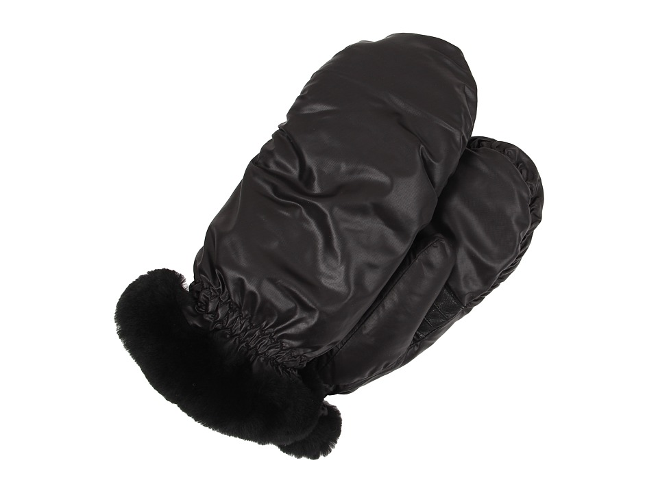 UGG - Non-Quilted Fabric Mitten (Black Multi) Extreme Cold Weather Gloves