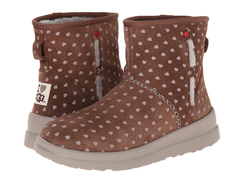 UGG - Kisses Mini (Moonstruck Hearts Suede) Women's Boots