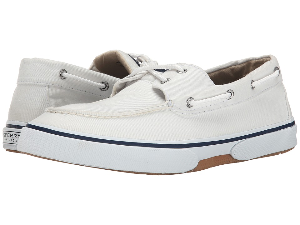 Sperry - Halyard 2-Eye (White) Men's Shoes