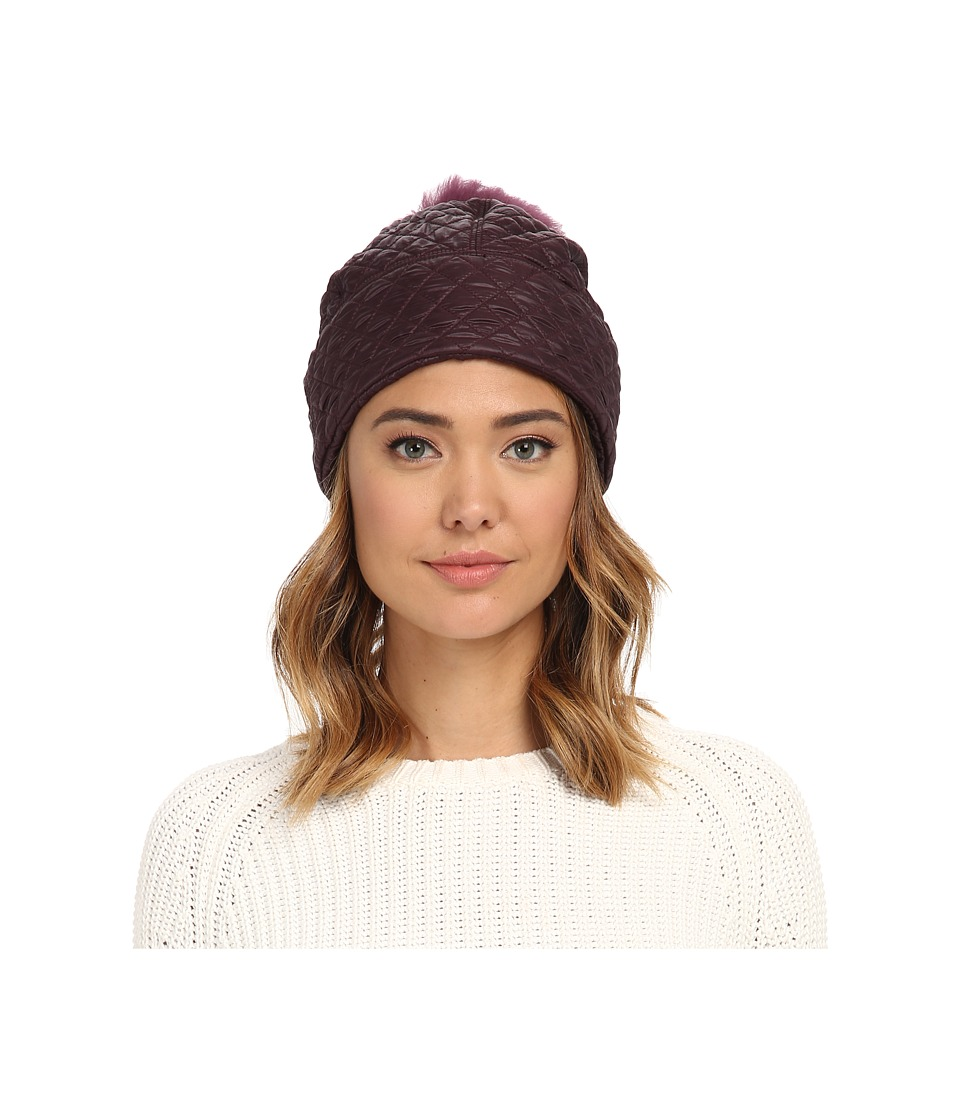 UGG - Quilted Fabric Hat w/ Pom (Aster Multi) Beanies