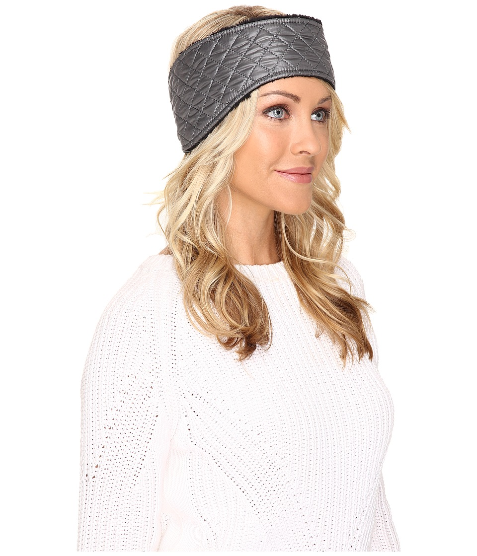 UGG - Quilted Fabric Headband (Grey Multi) Traditional Hats