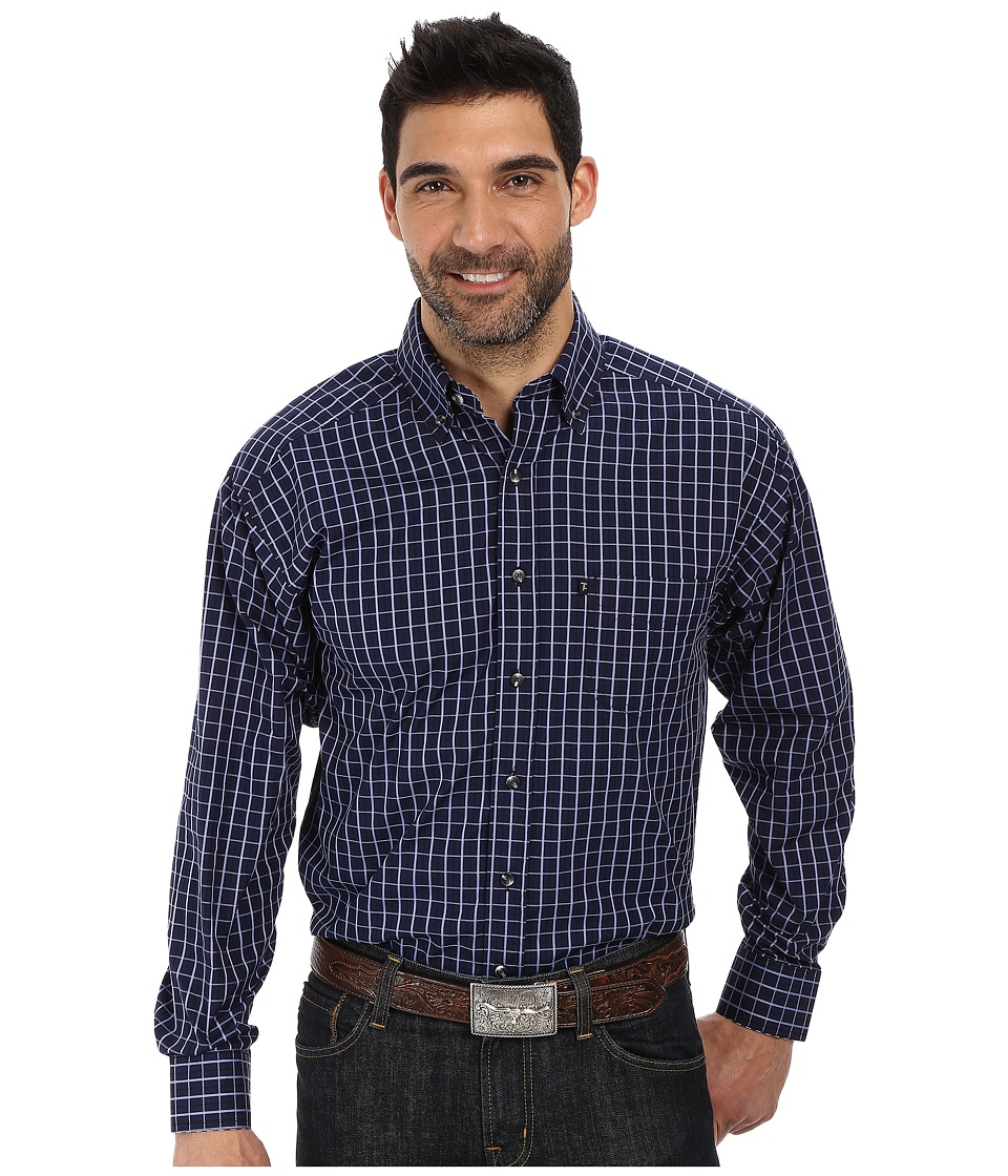 Tuf Cooper by Panhandle - Long Sleeve Button Down (Royal) Men's Long Sleeve Button Up