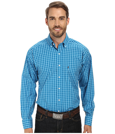 Tuf Cooper by Panhandle - Long Sleeve Button Down (Bright Turq) Men's Long Sleeve Button Up