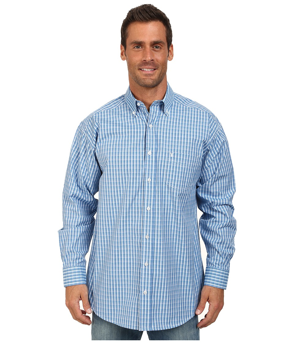 Tuf Cooper by Panhandle - Long Sleeve Button Down (Bright Turq) Men