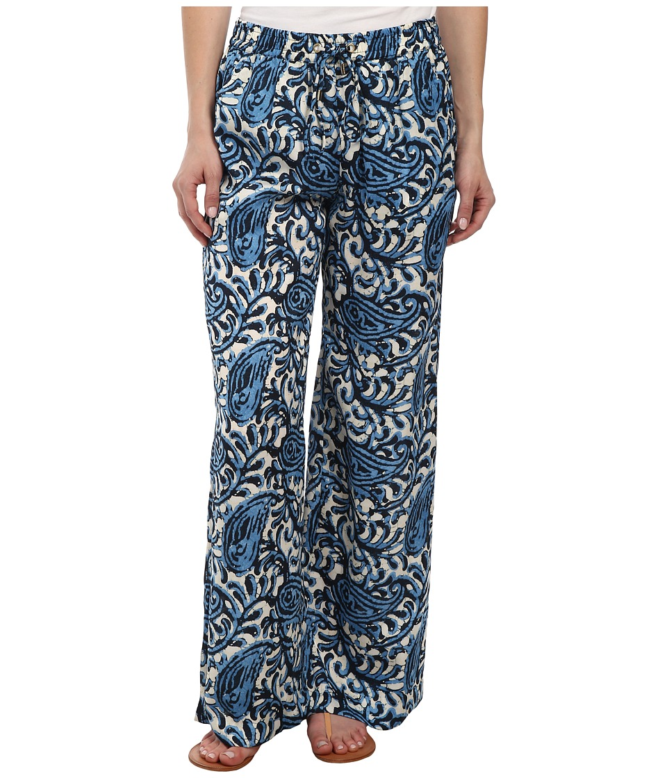 MICHAEL Michael Kors - Petite Easy Wide Leg Pants (Heritage Blue) Women's Casual Pants