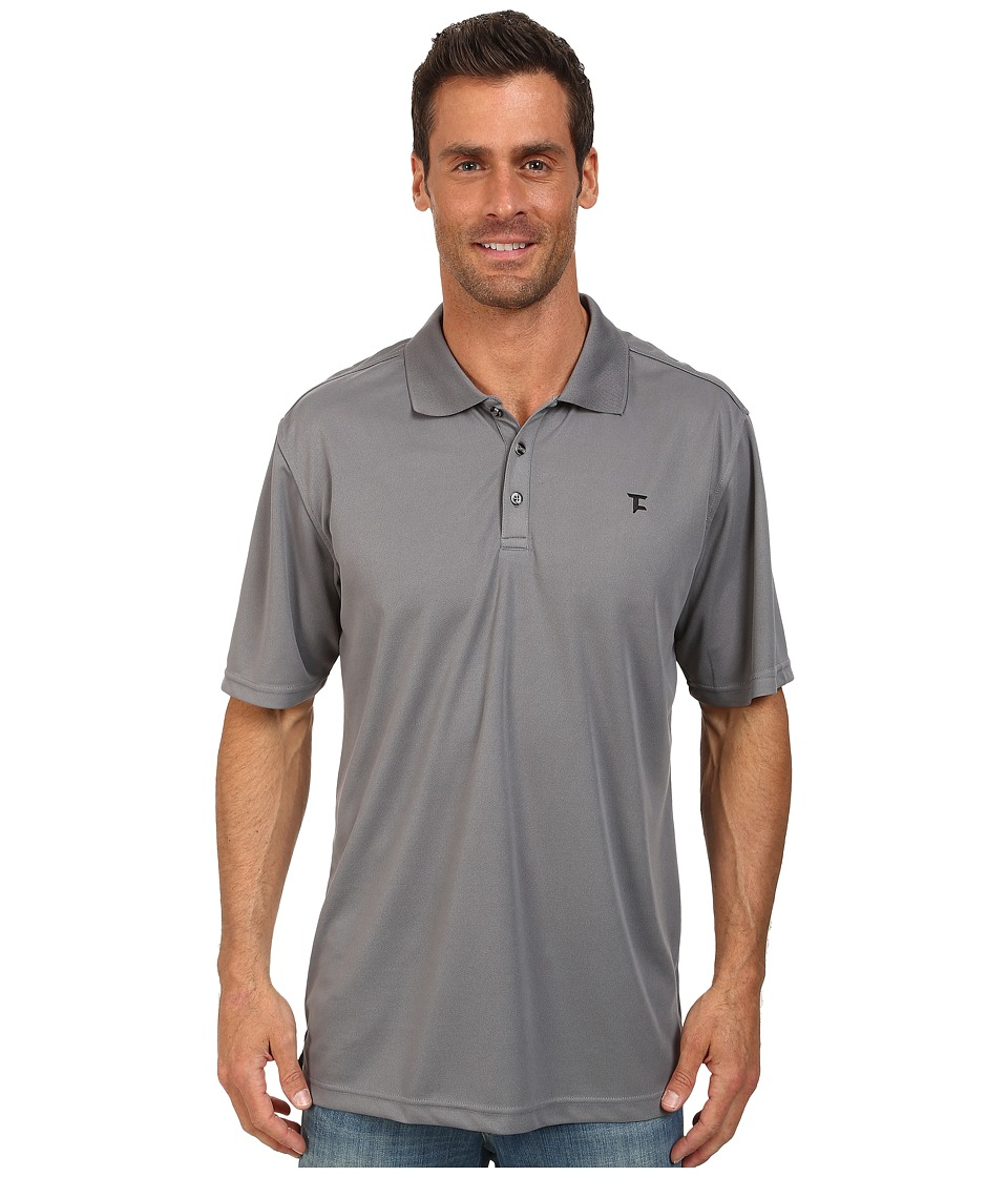 Tuf Cooper by Panhandle - Short Sleeve Polo (Steel) Men's Short Sleeve Pullover