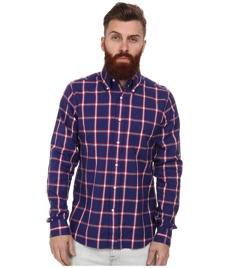 Gant Rugger - R. Windblown Oxford Hobd (Luminary Blue) Men's Long Sleeve Button Up