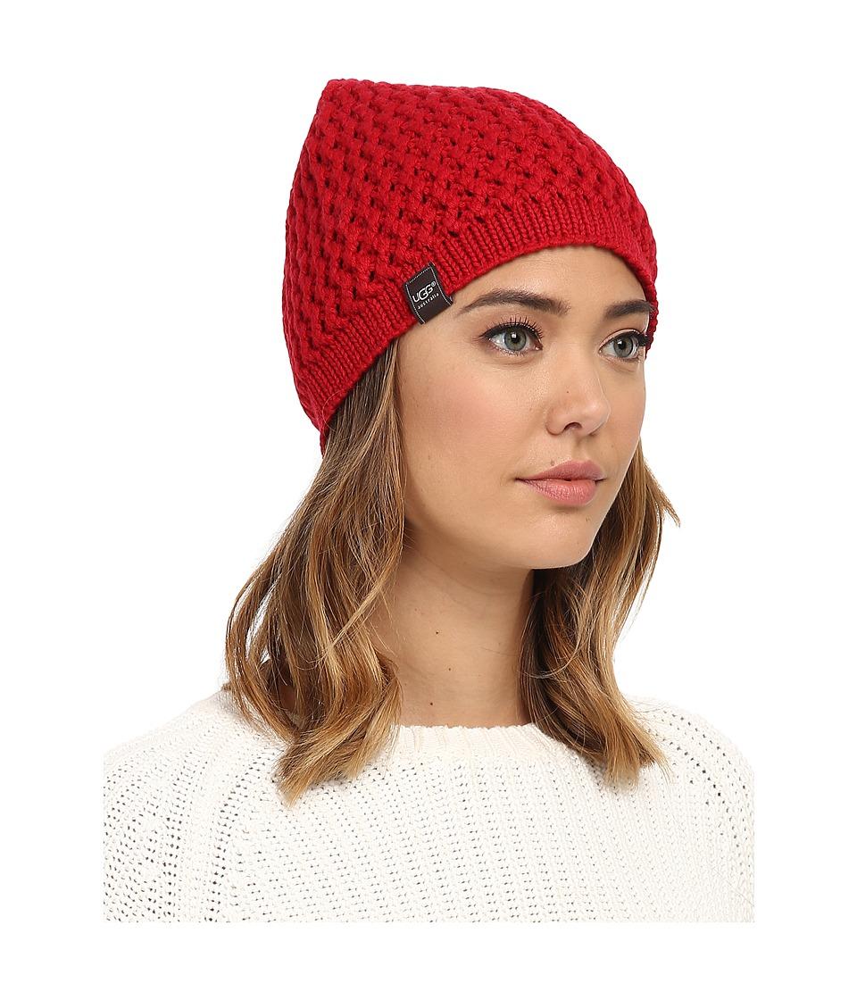 UGG - Sequoia Solid Knit Beanie (Scarlett) Beanies