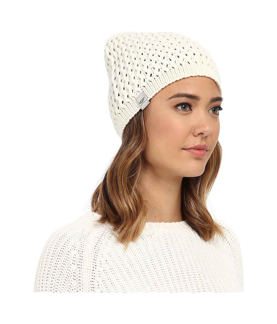 UGG - Sequoia Solid Knit Beanie (Cream) Beanies