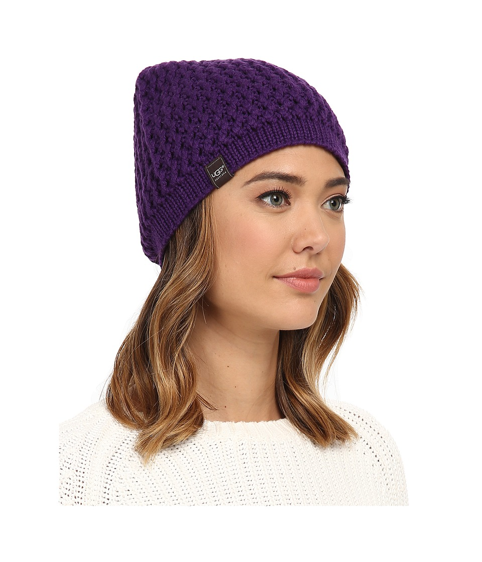 UGG - Sequoia Solid Knit Beanie (Bilberry) Beanies