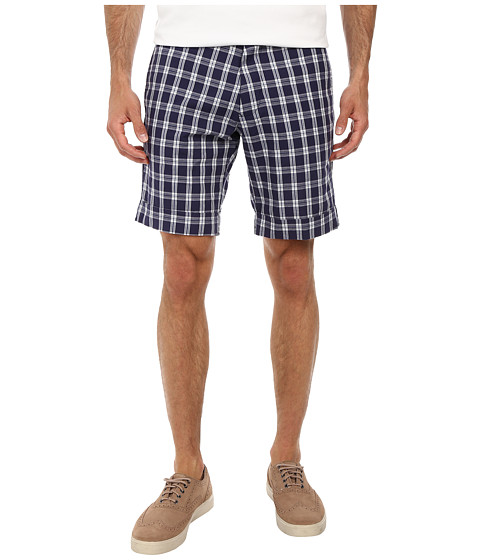 Gant Rugger - R. Check Dress Shorts (Marine) Men's Shorts