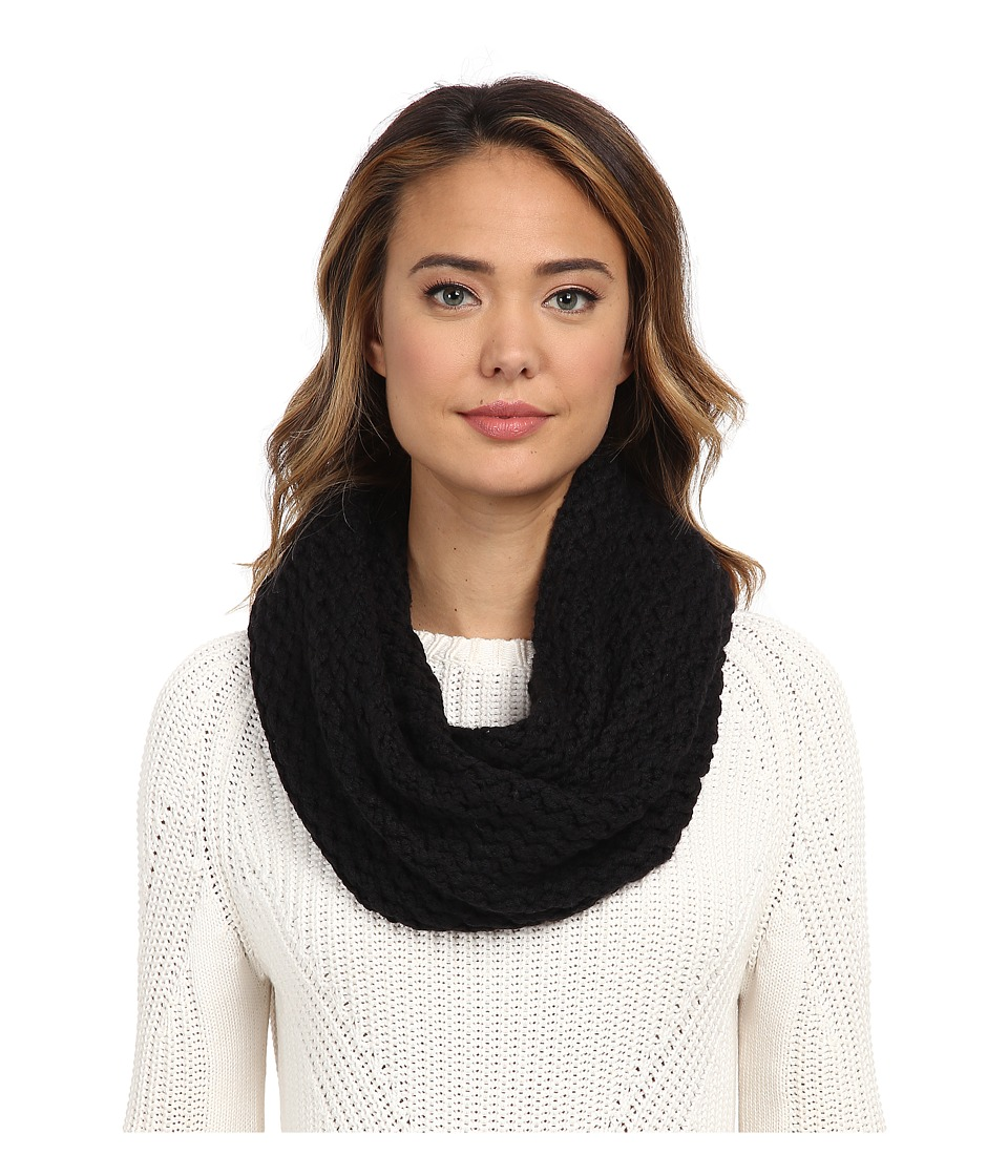 UGG - Sequoia Twisted Solid Knit Snood (Black) Scarves
