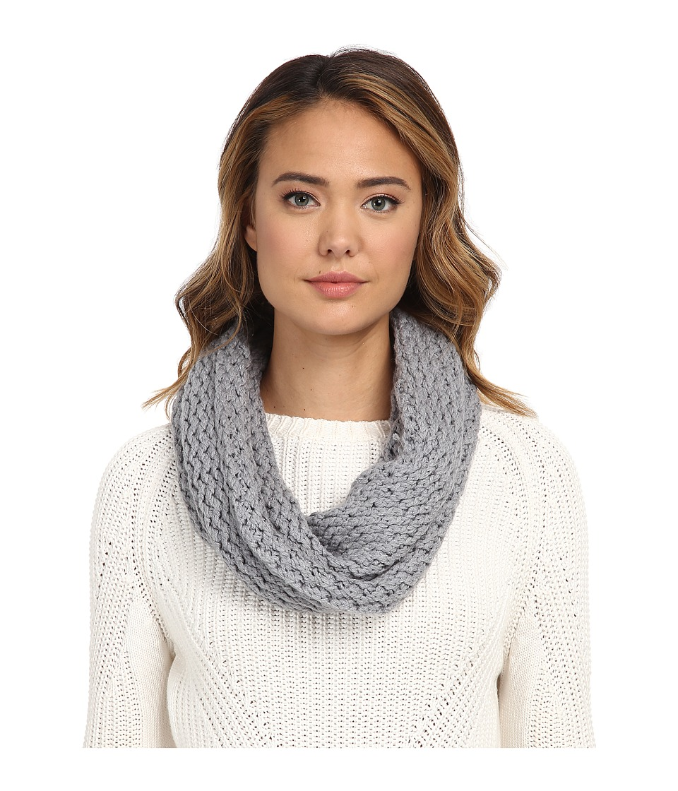UGG - Sequoia Twisted Solid Knit Snood (Grey Heather) Scarves
