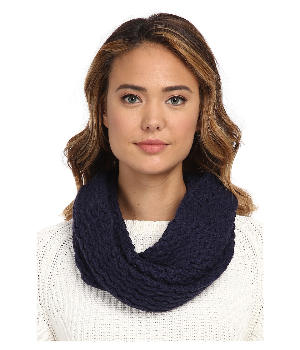 UGG - Sequoia Twisted Solid Knit Snood (Peacoat) Scarves