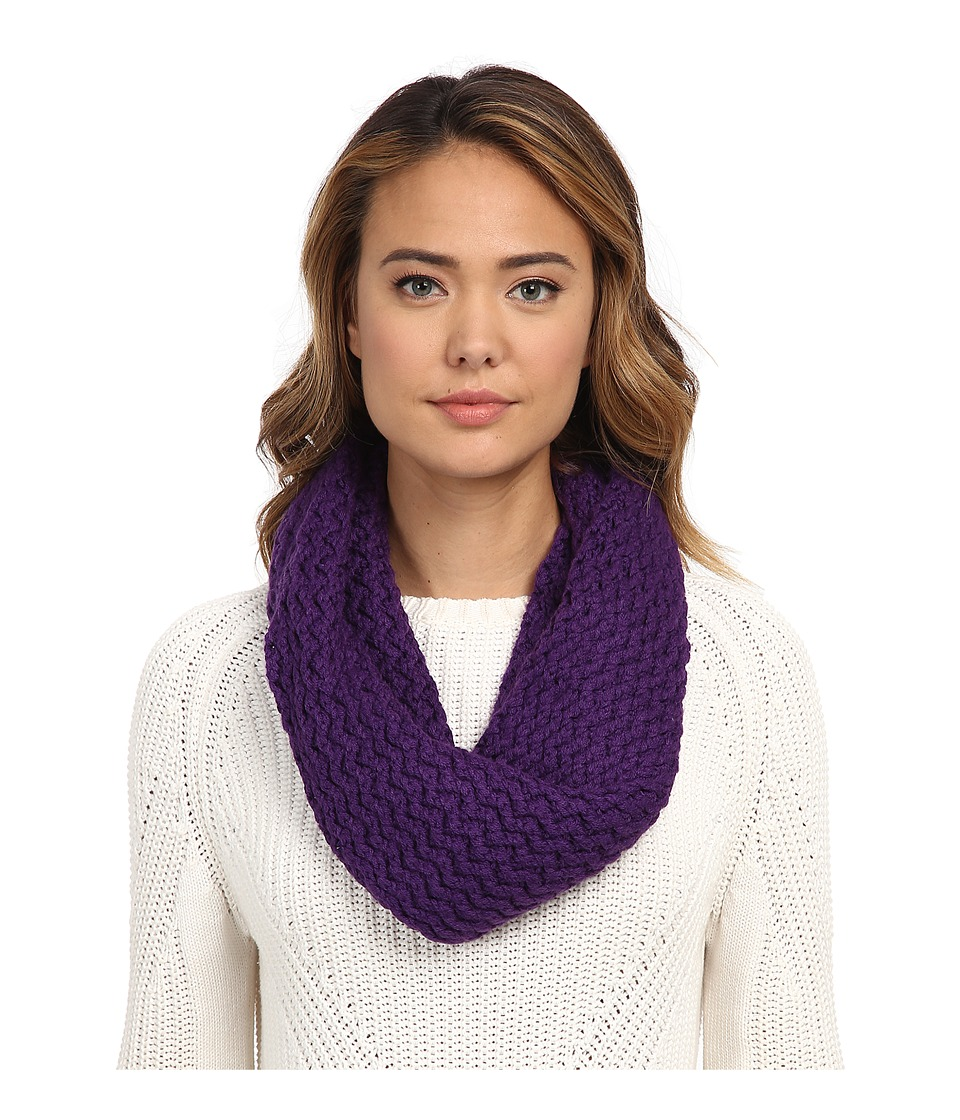 UGG - Sequoia Twisted Solid Knit Snood (Bilberry) Scarves