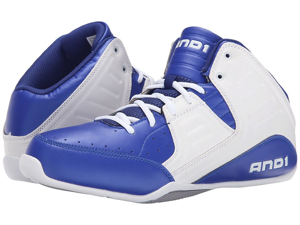 AND1 - Rocket 4 (Surf the Web/White/Silver) Men's Basketball Shoes