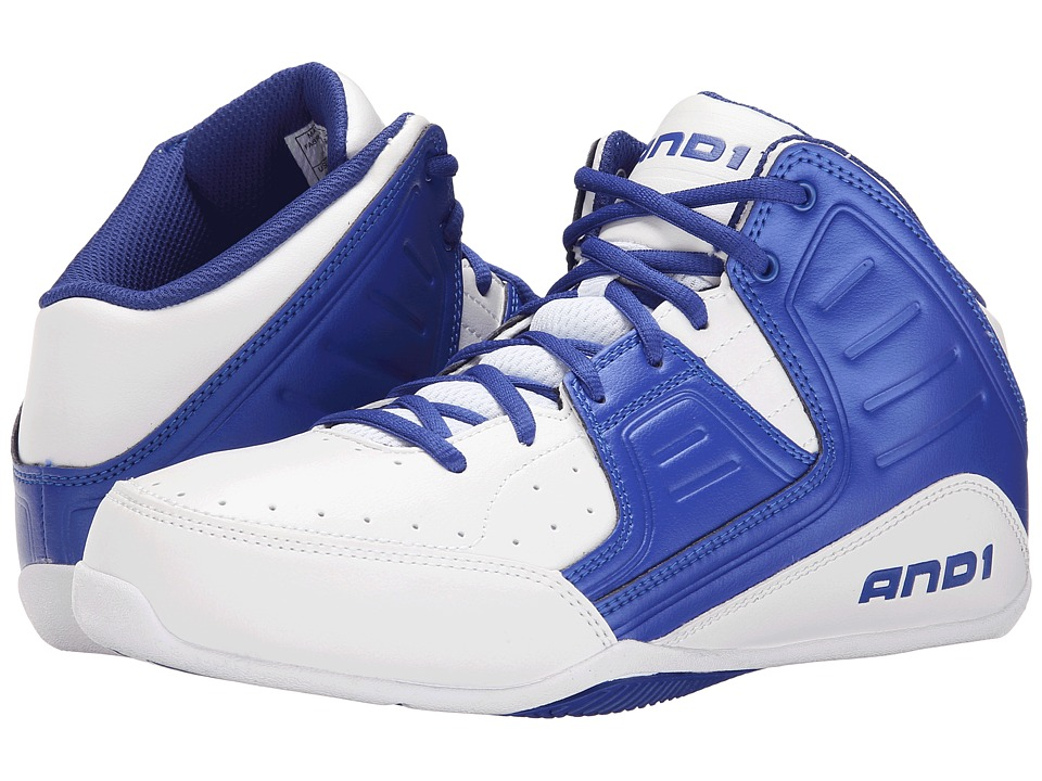 AND1 - Rocket 4 (White/Blue/White) Men's Basketball Shoes