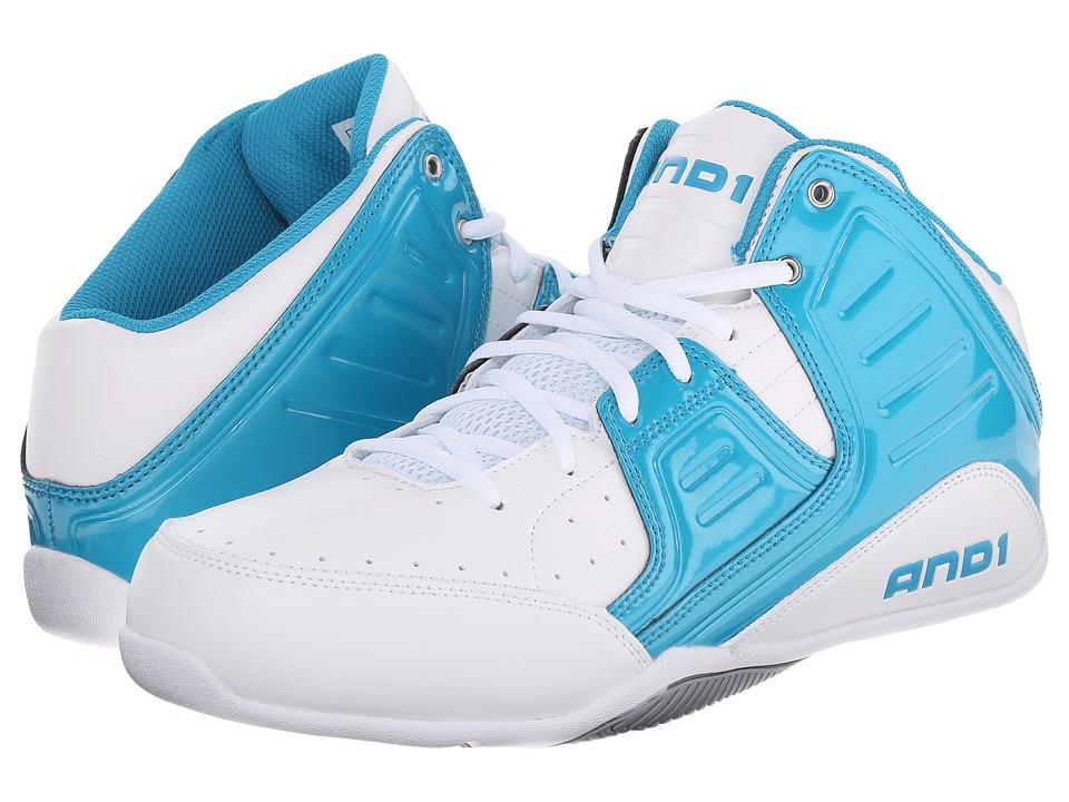 AND1 - Rocket 4 (Capri Breeze/White/Silver) Men's Basketball Shoes