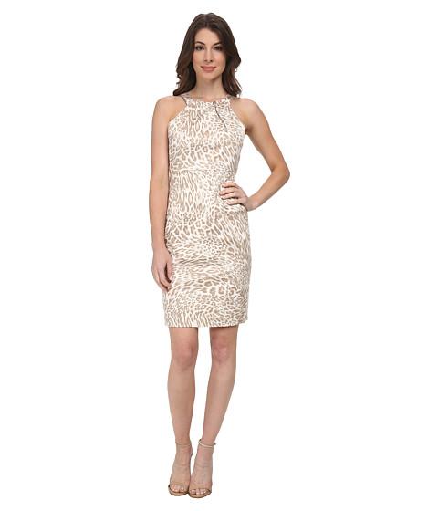 Calvin Klein - Halter Dress (Latte Multi) Women