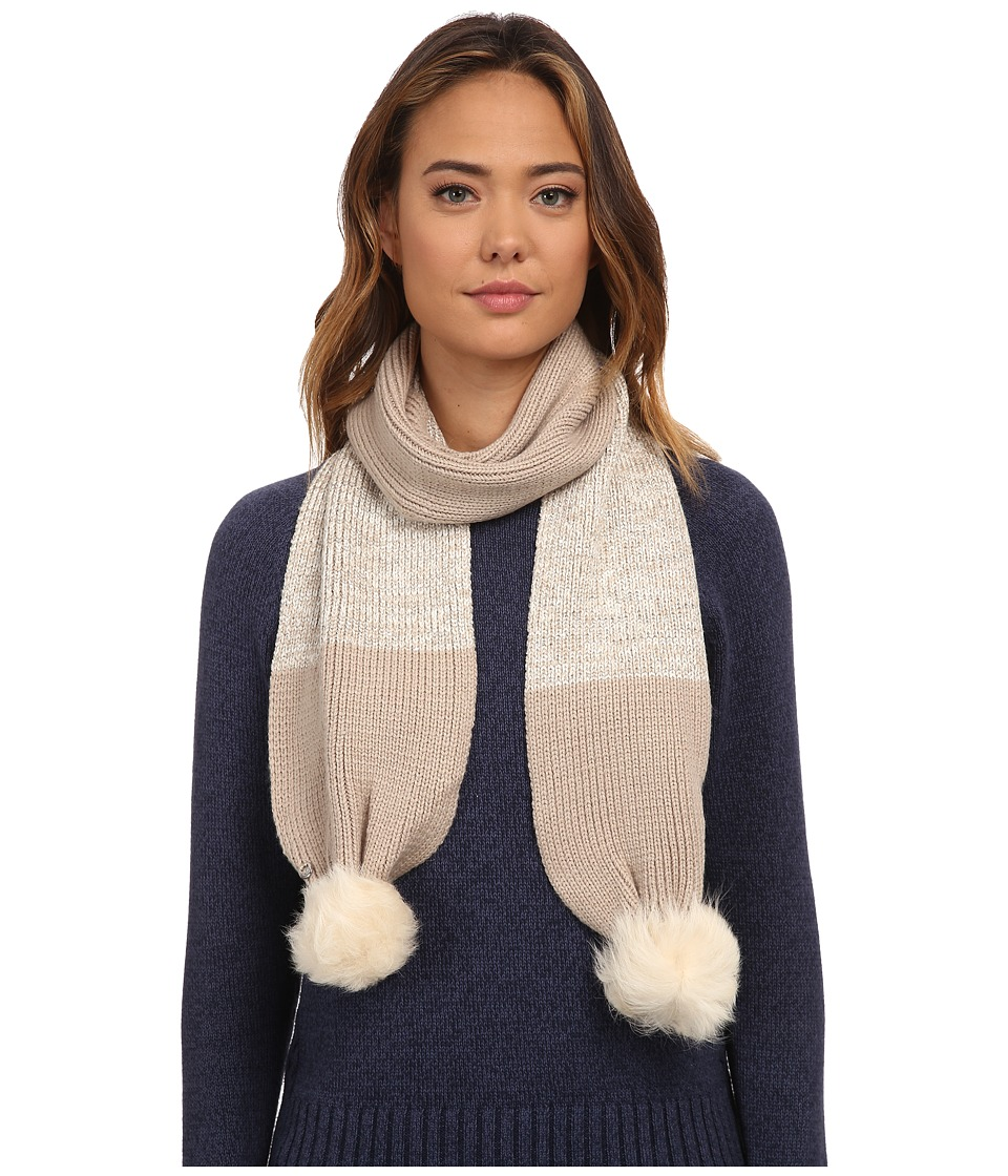 UGG - Classic Marled Scarf w/ Sequins and Fur Pom (Moonlight Multi) Scarves