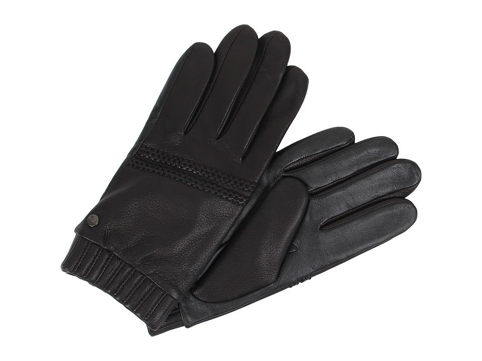 UGG - Calvert Textured Tech Leather Glove (Black Multi) Extreme Cold Weather Gloves