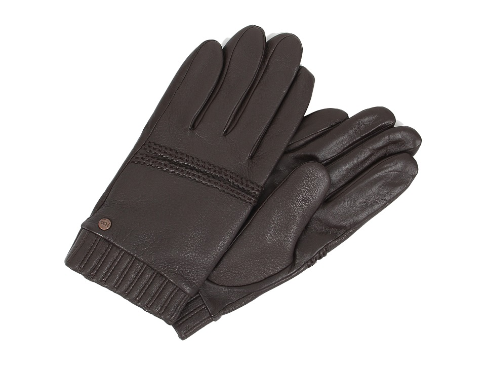 UGG - Calvert Textured Tech Leather Glove (Brown Multi) Extreme Cold Weather Gloves