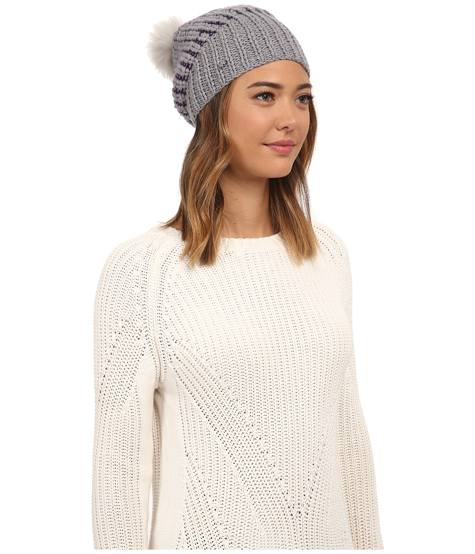UGG - Cardy Block Beanie (Grey Heather Multi) Beanies