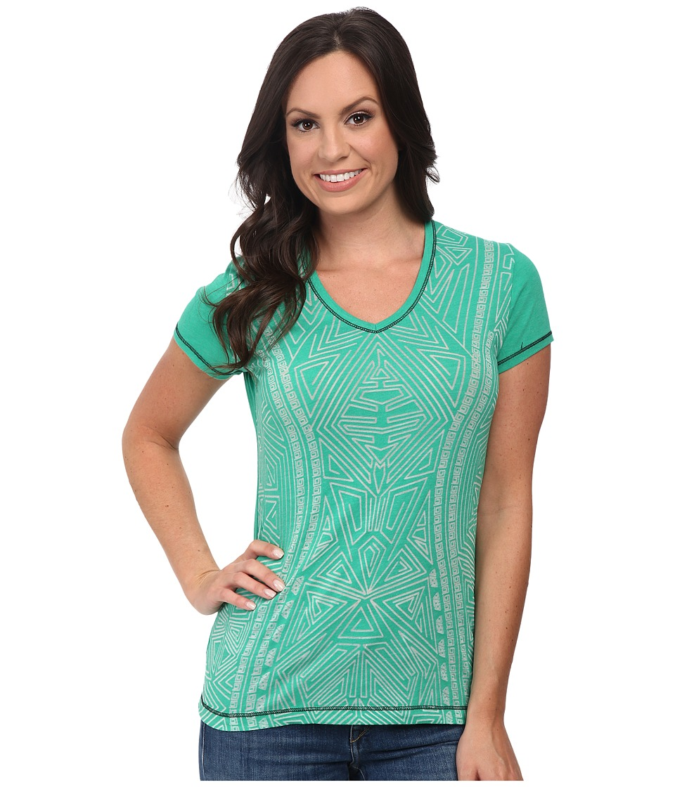 Cruel - Front Spot Burnout Pattern (Green) Women's Clothing