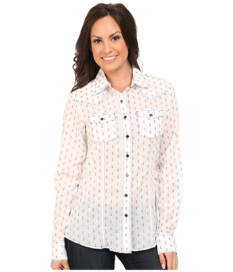 Cruel - Long Sleeve Arena Fit Mylar Polka Dot (Assorted) Women's Clothing