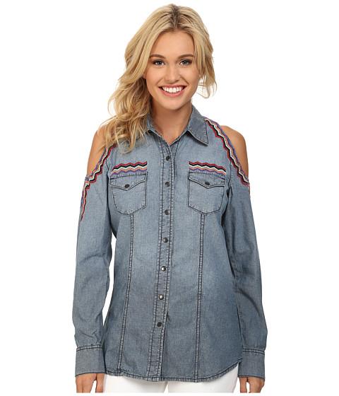 Cruel - Denim Shirt Cold Shoulder (Indigo) Women