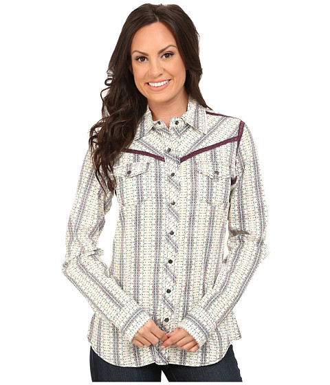 Cruel - Long Sleeve Arena Fit Printed Stripe (Assorted) Women's Clothing
