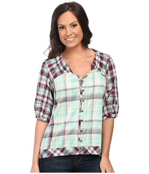 Cruel - Fitted Peasant Blouse (Assorted) Women's Blouse