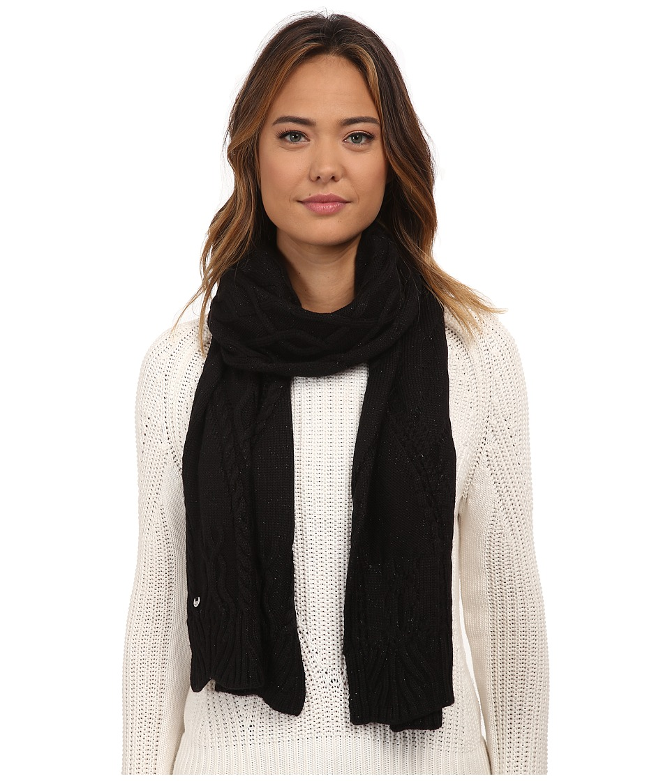 UGG - Isla Lurex Cable Scarf (Black Multi) Scarves