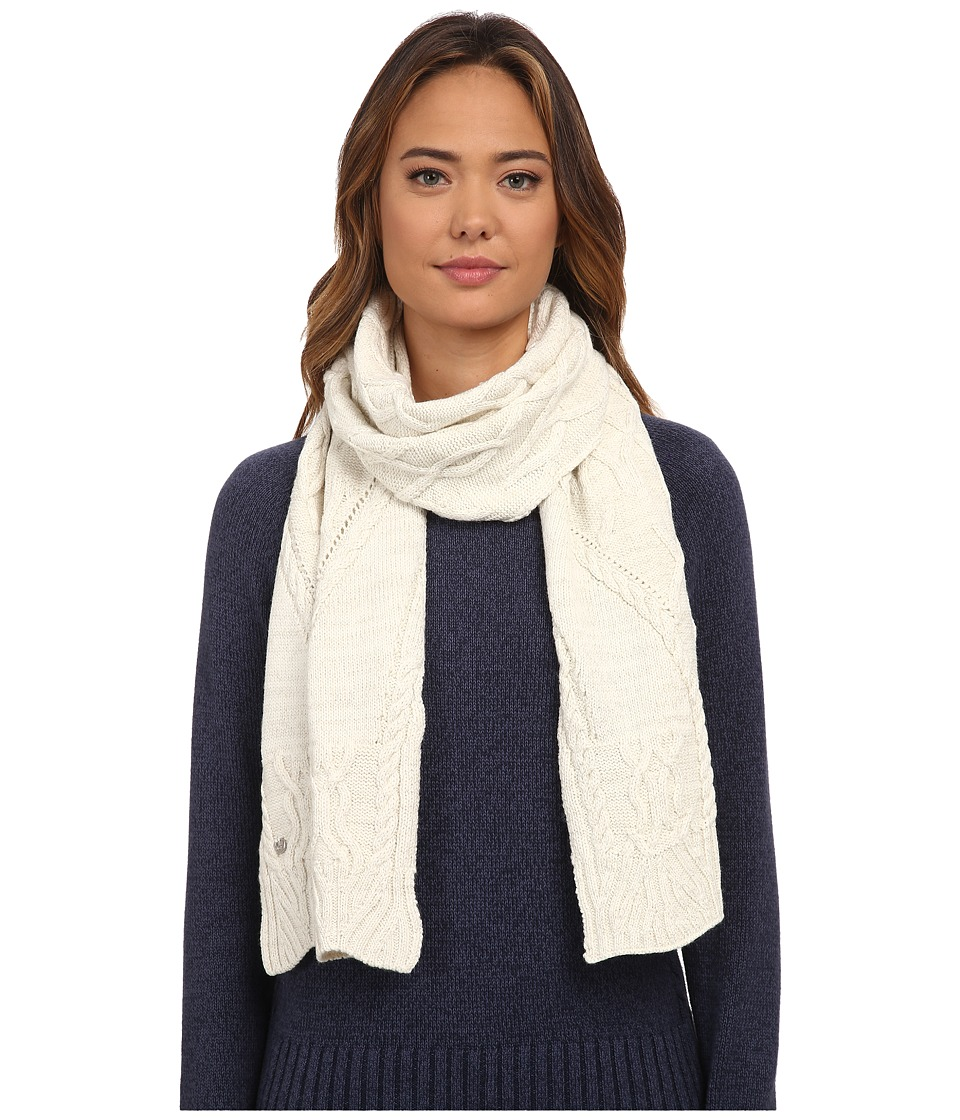 UGG - Isla Lurex Cable Scarf (Cream Multi) Scarves