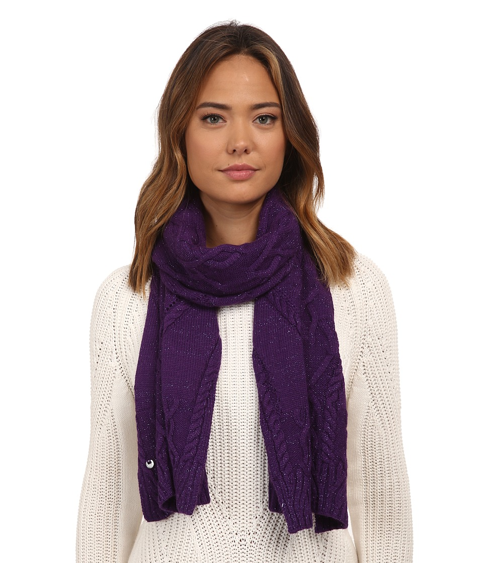 UGG - Isla Lurex Cable Scarf (Bilberry Multi) Scarves