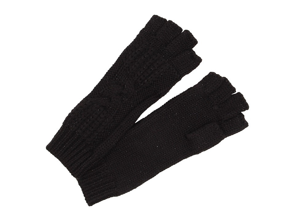 UGG - Isla Lurex Cable Fingerless Glove (Black Multi) Extreme Cold Weather Gloves