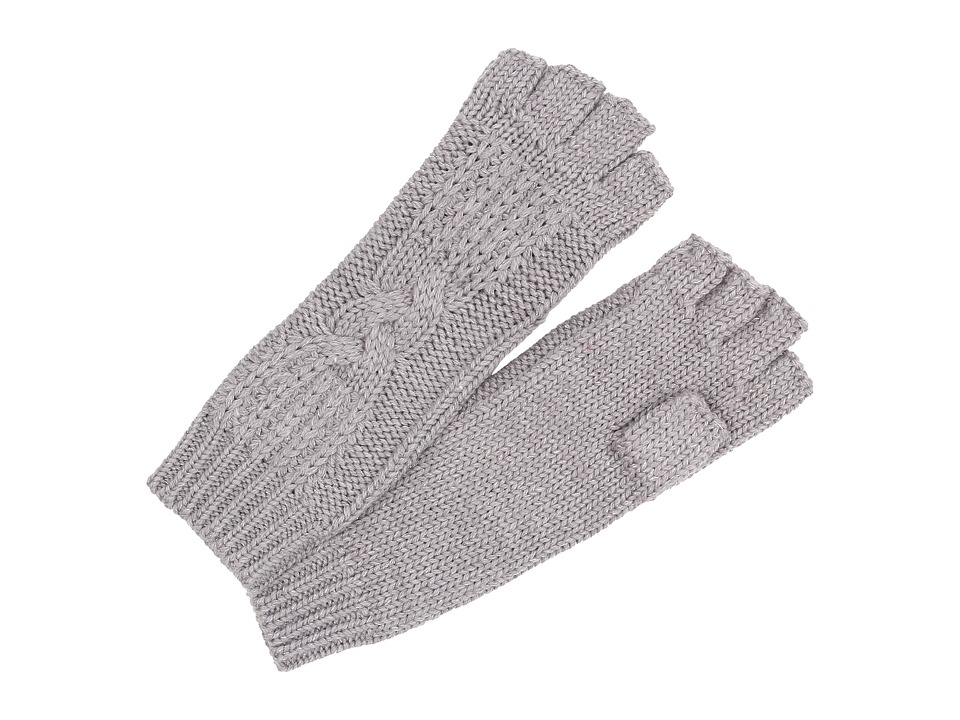 UGG - Isla Lurex Cable Fingerless Glove (Grey Heather Multi) Extreme Cold Weather Gloves