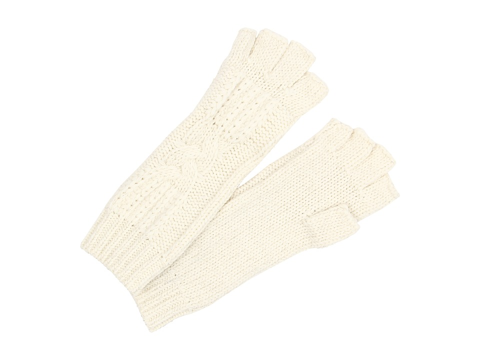 UGG - Isla Lurex Cable Fingerless Glove (Cream Multi) Extreme Cold Weather Gloves