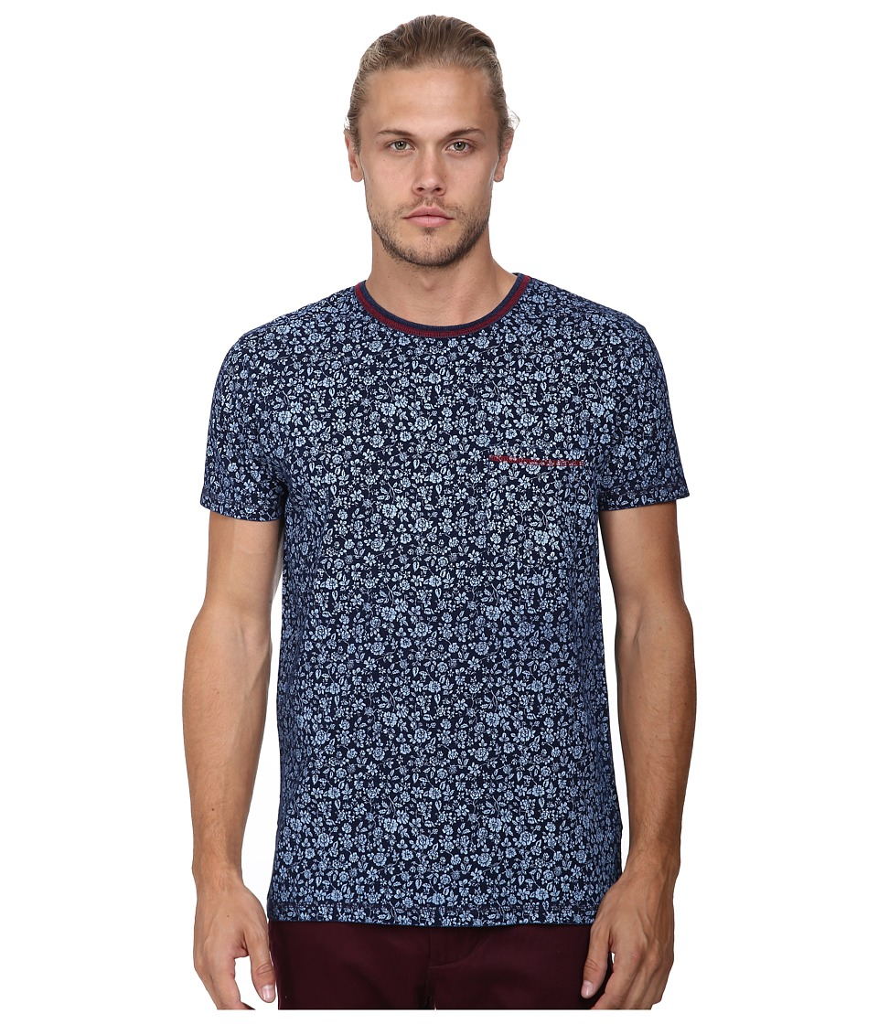Deus Ex Machina - Bob Floral Tee (Indigo) Men's T Shirt