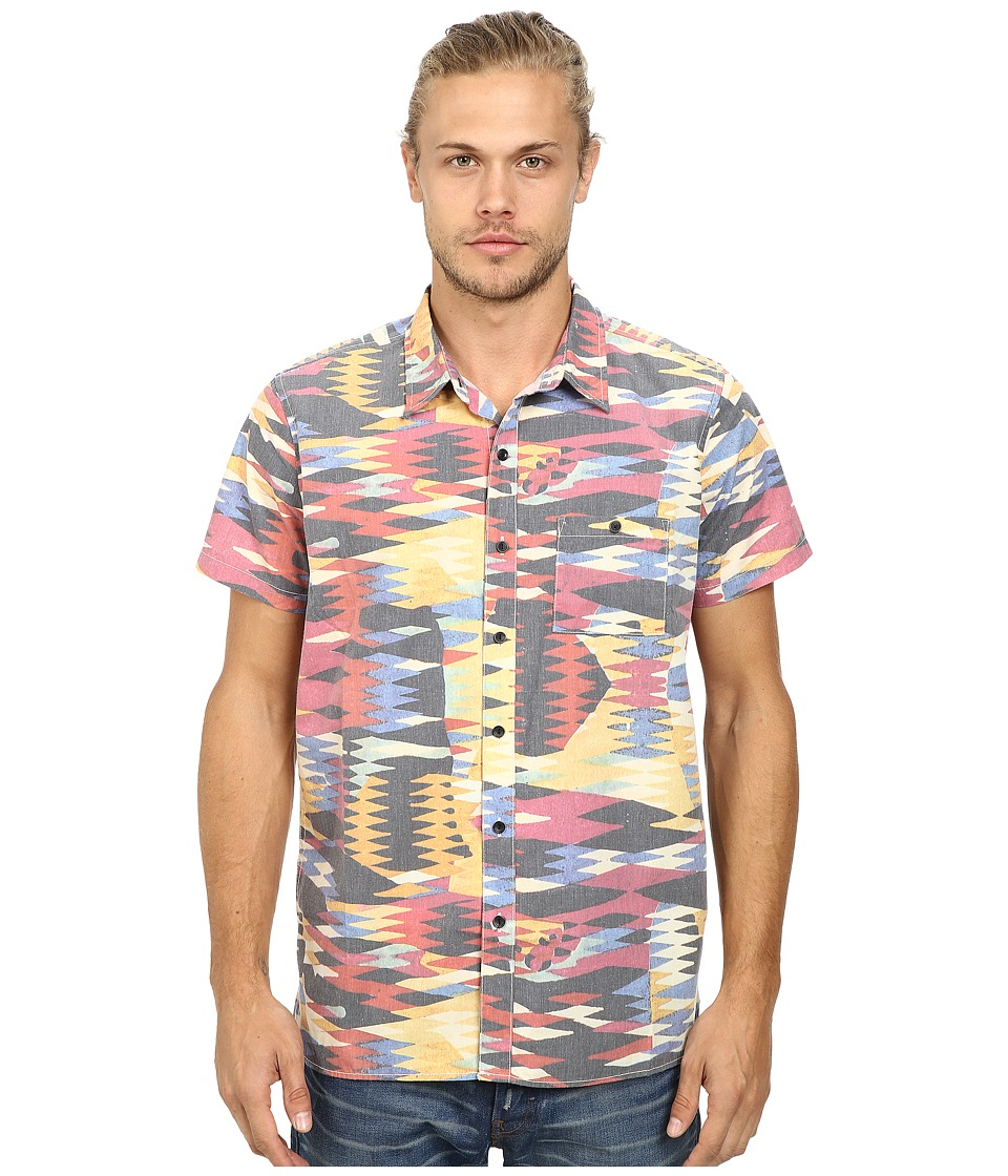 Deus Ex Machina - Dudley Short Sleeve Shirt (Techno) Men's Short Sleeve Button Up