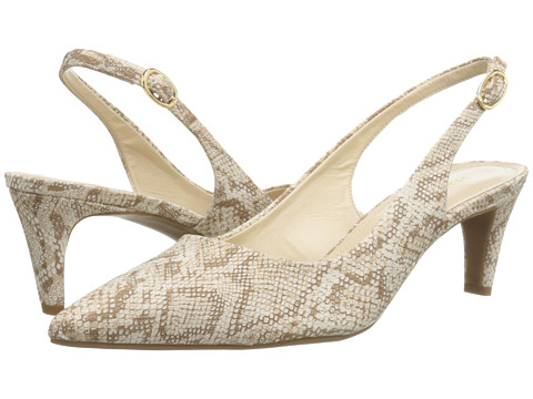Franco Sarto - Dava (Natural Synthetic Snake Print) Women's Sling Back Shoes