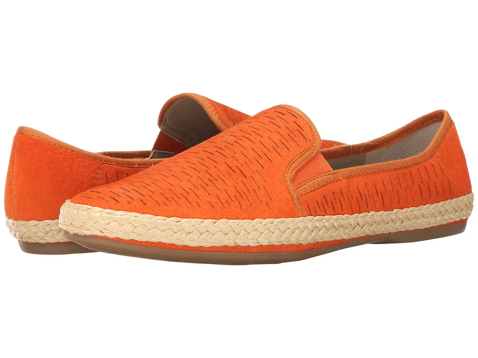 Franco Sarto - Weber (Orange Nubuck Leather) Women's Flat Shoes