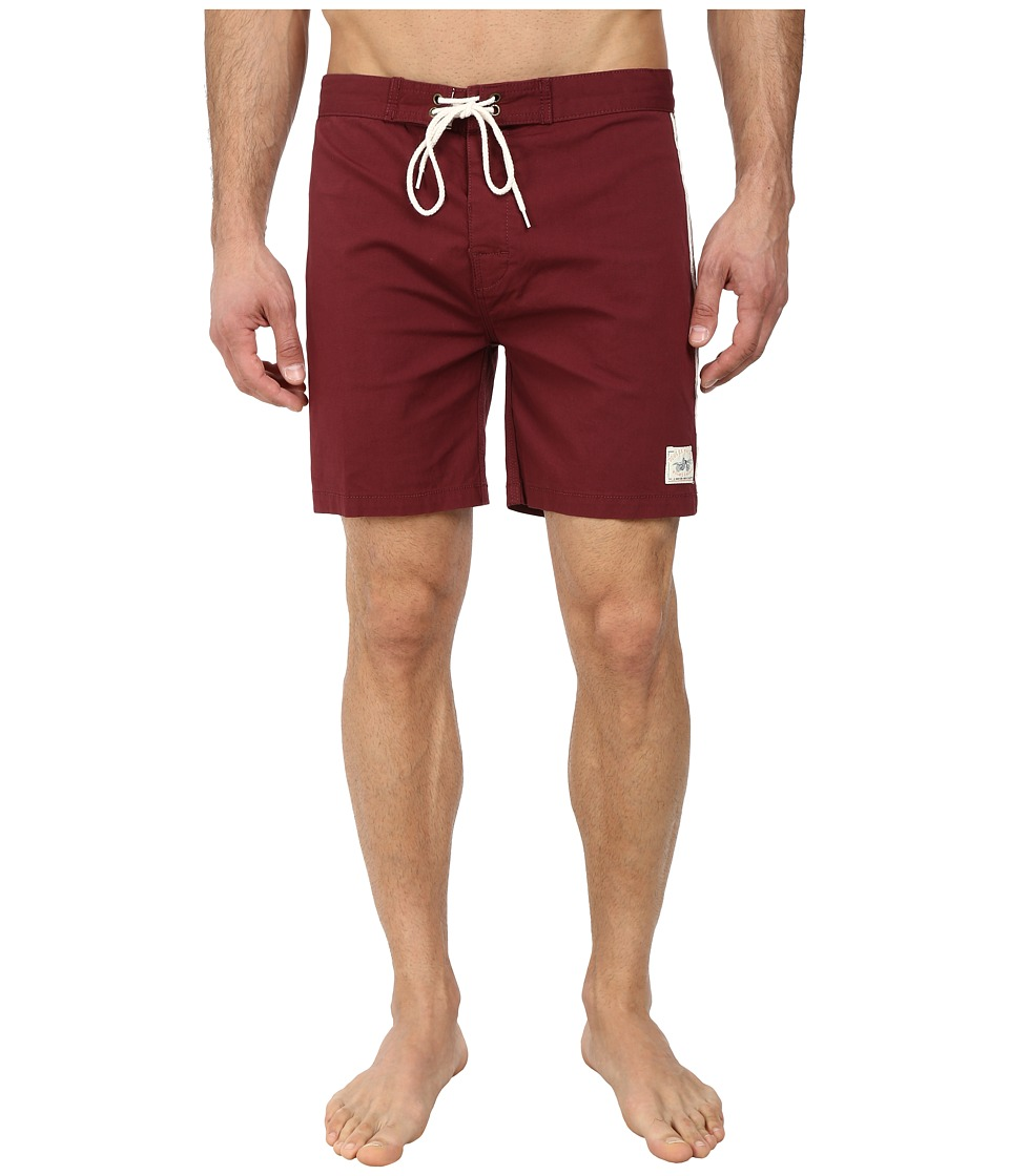 Deus Ex Machina - Harrison Concept 2 Boardshorts (Burgandy) Men's Swimwear