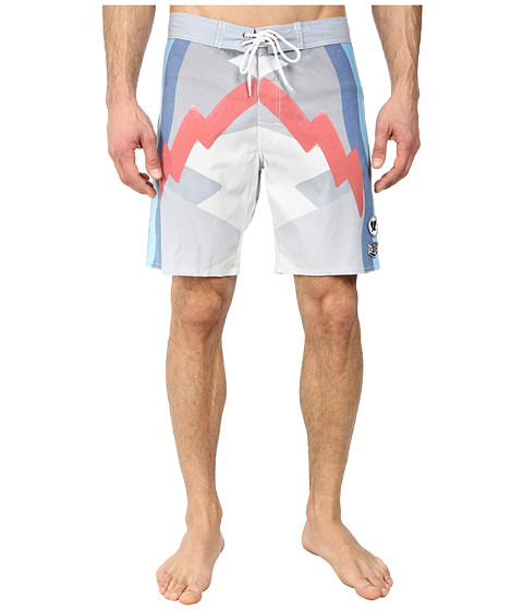 Deus Ex Machina - Randall Strike Boardshorts (White) Men's Swimwear