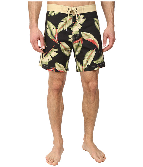 Deus Ex Machina - Tugu Palms Boardshorts (Jet Black) Men's Swimwear